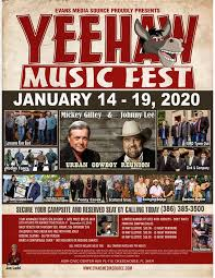 okeechobee yeehaw music fest flyer for january 2020 event