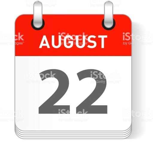 August 22 date