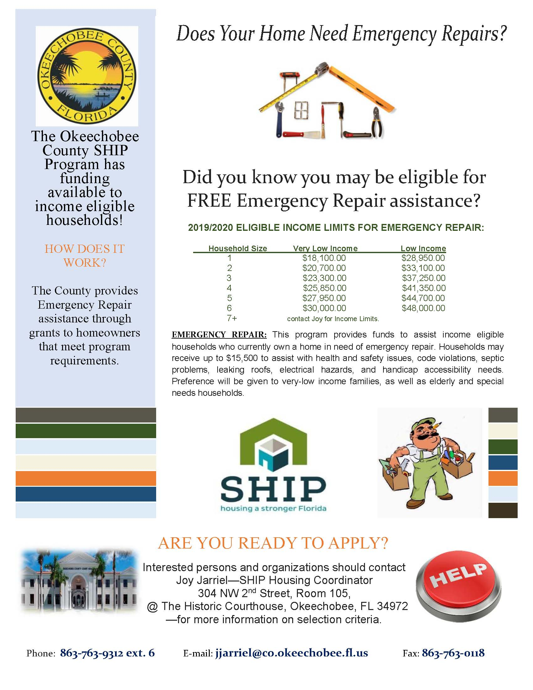 Emergency Home Repair Flyer 2019