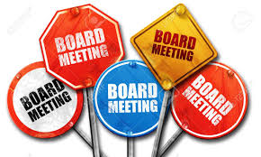Board Meeting signs