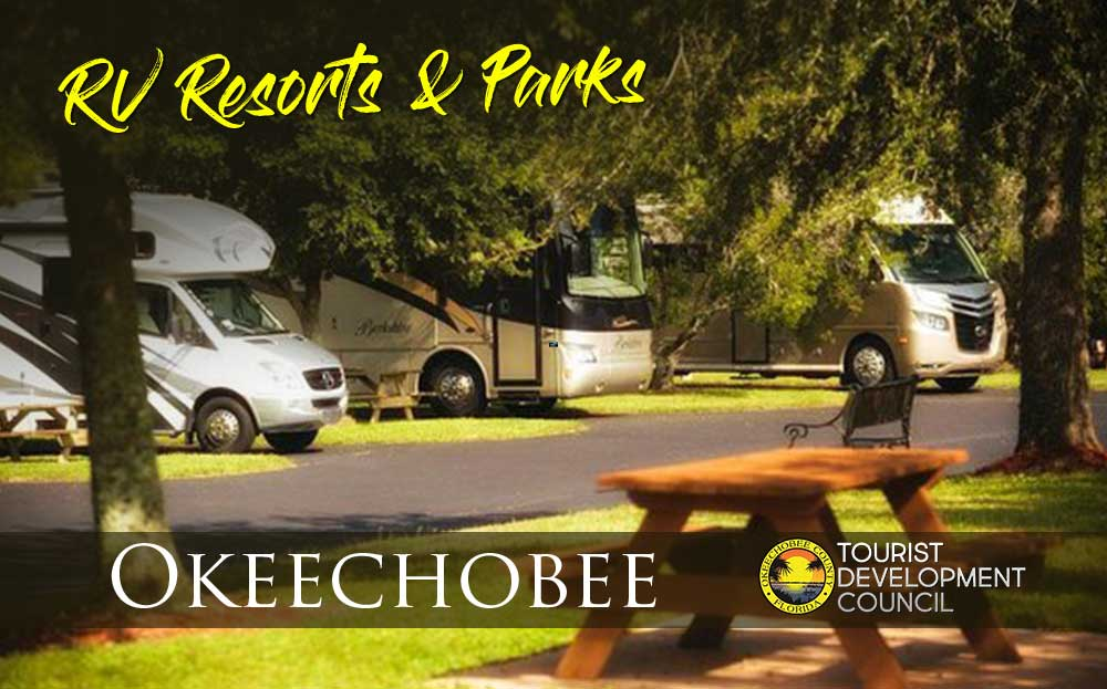 RV campground with trees and picnic table